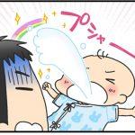赤ちゃんがミルクを吐く