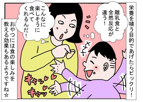 おやつで栄養補給!離乳食も赤ちゃんせんべいでリッツ☆パーティー! by ワンタケ
