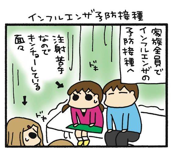 インフルエンザ予防接種と父の顔芸【うちはおっぺけ~3姉妹といっしょ ...